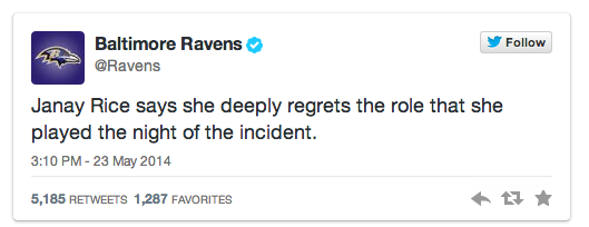 Baltimore Ravens deleted tweet